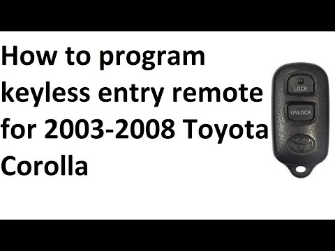 2007 toyota camry remote programming instructions