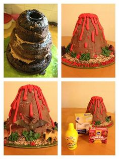how to make a volcano step by step instructions