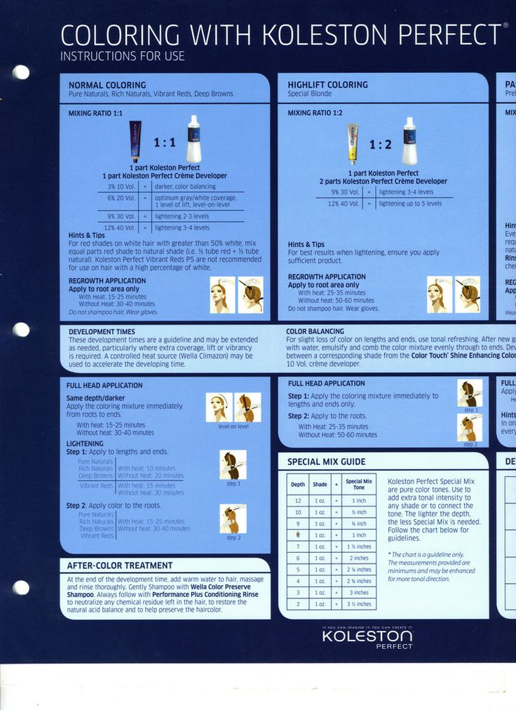 directions hair dye instructions