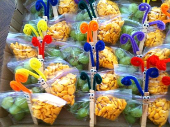butterfly snack bags instructions