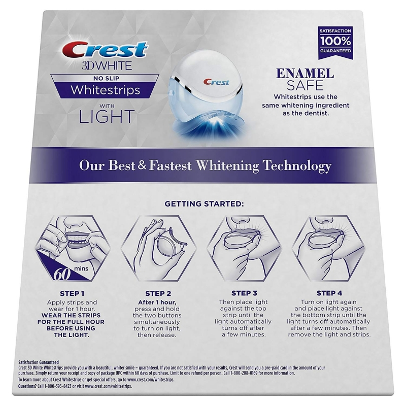 crest 3d white strips instructions
