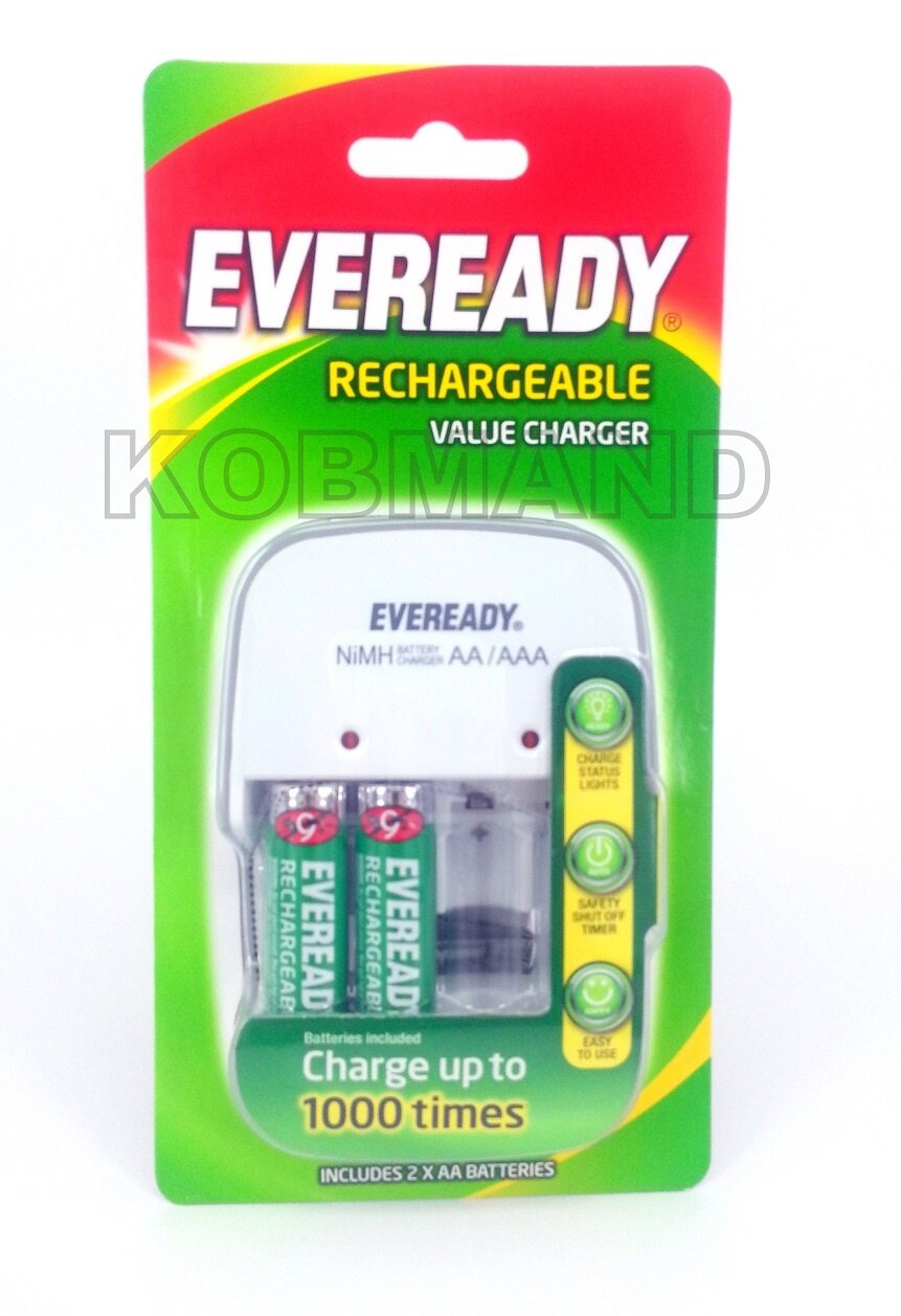 eveready rechargeable battery charger instructions